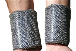 chain mail metal mesh wrist guard, bracers