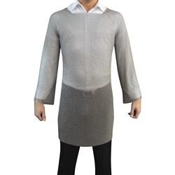Welded Long Sleeve Chainmail Tunic made of 100% welded stainless steel compared to Mithril