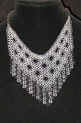 Black and Silver formal RingMesh Necklace